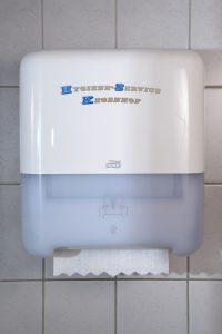 Papierspender für Toiletten nahaufnahme frontsicht