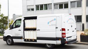 Damenhygiene Behälter Fahrzeug 6 heckansicht