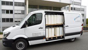 Damenhygiene Behälter Fahrzeug 6 seitenansicht